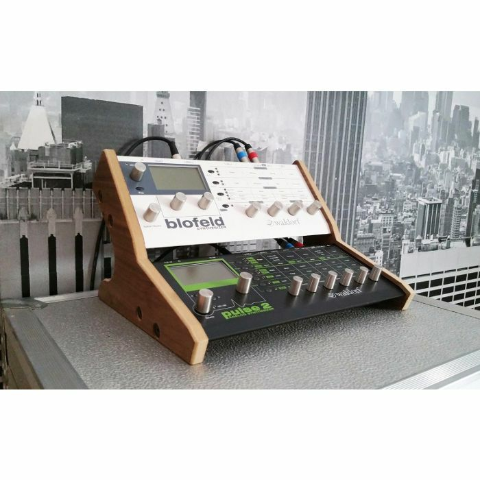 SYNTHS & WOOD - Synths & Wood Oak Veneered Dual Stand For Waldorf Blofeld & Pulse 2