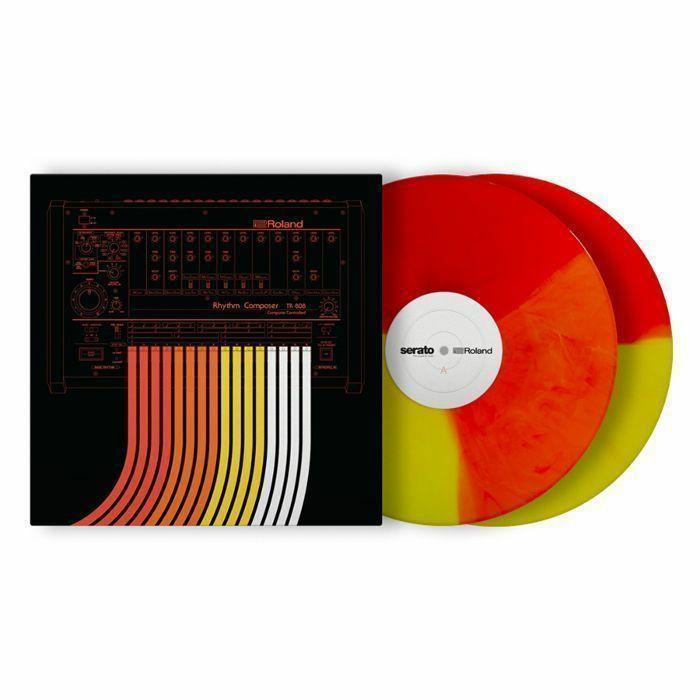 SERATO/ROLAND - Roland 808 x Serato 12 Inch Control Vinyl (coloured vinyl, pair)