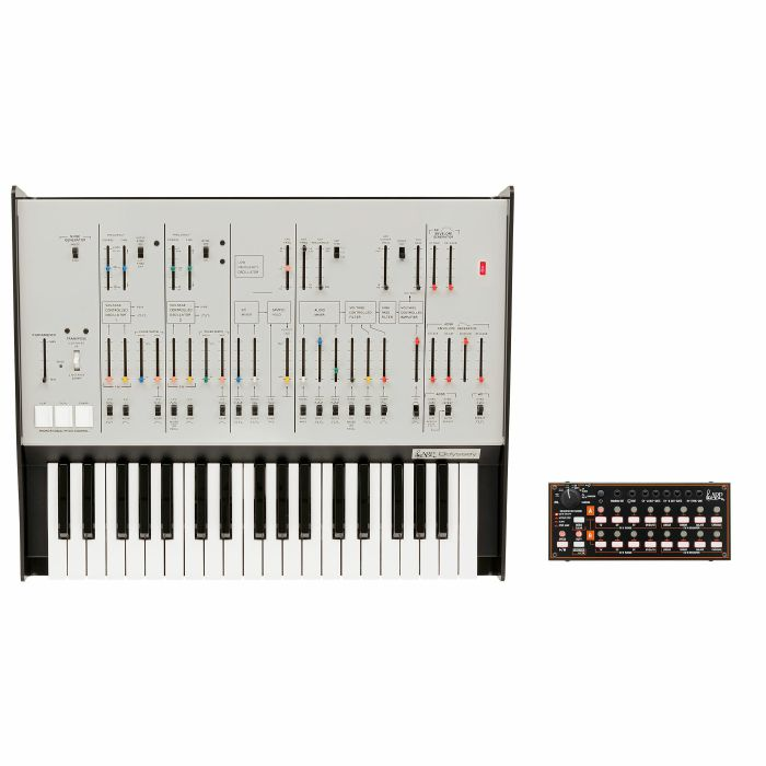 ARP/KORG - ARP Odyssey FSQ Duophonic Analog Synthesizer & Korg SQ1 Sequencer (limited edition Rev.1, white)