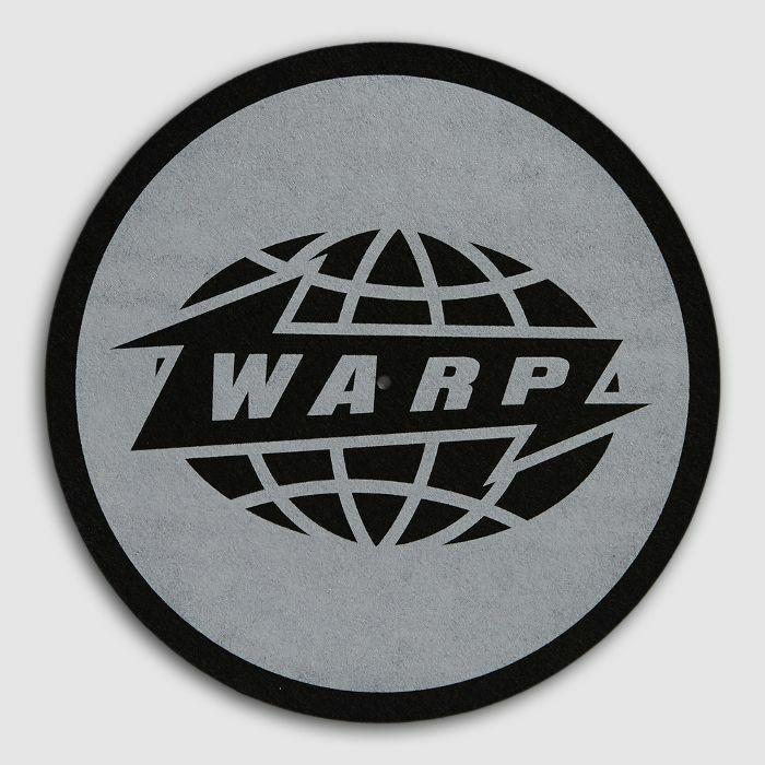Warp Warp Logo Slipmats Pair Black Logo With Grey Print