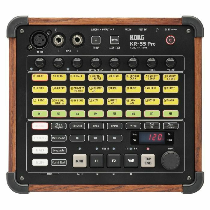 korg korg kr55 pro rhythm drum machine vinyl at juno records. Black Bedroom Furniture Sets. Home Design Ideas