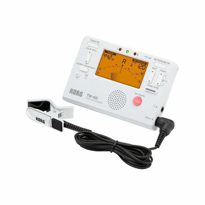 KORG - Korg TM60C Combo Tuner Metronome & Contact Microphone (white)
