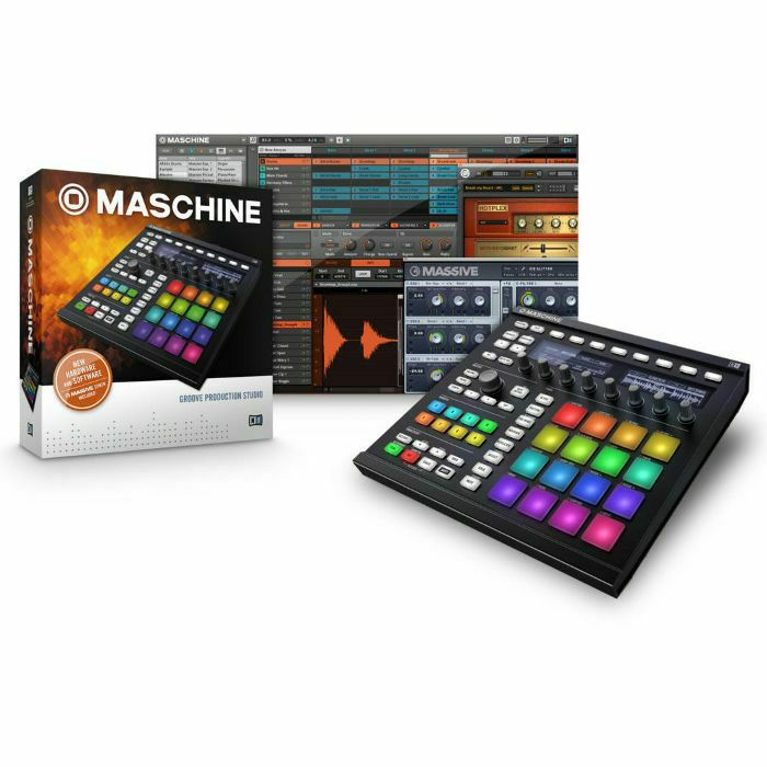 NATIVE INSTRUMENTS - Native Instruments Maschine MkII Groove Production Studio (black) + Massive & Komplete Elements Software Bundle (B-STOCK)