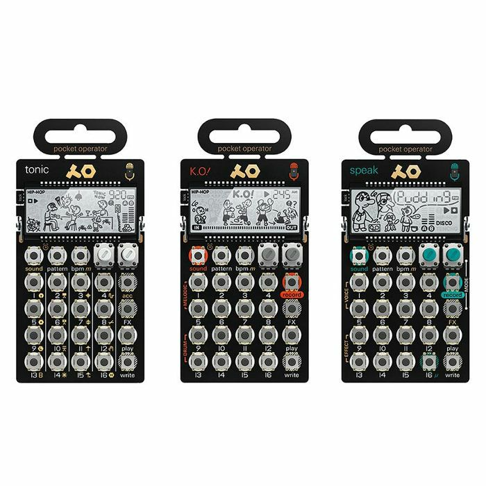 TEENAGE ENGINEERING - Teenage Engineering Pocket Operator Metal Series Super Set (includes PO32 Tonic, PO33 K.O, PO35 Speak & silicone cases)