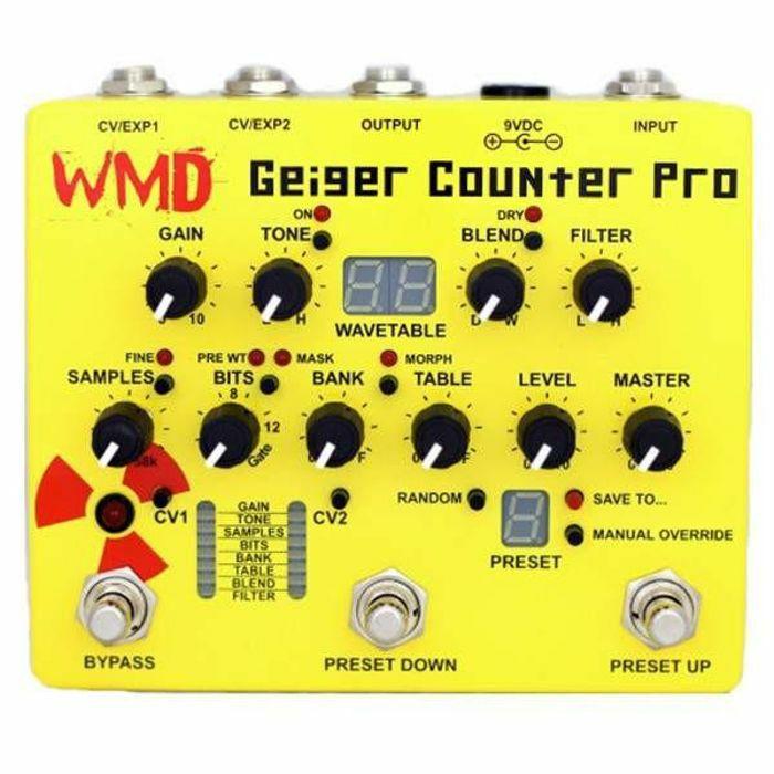 WMD - WMD Geiger Counter Pro Bitcrusher Distortion Pedal