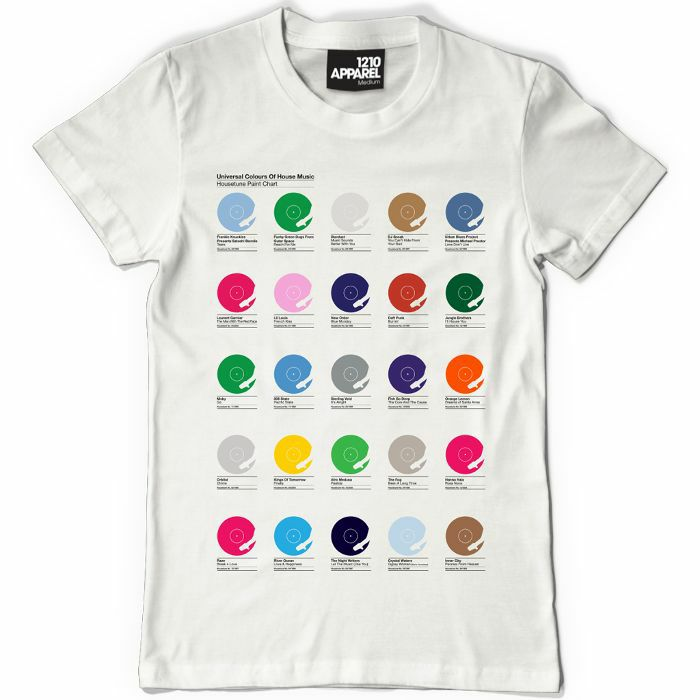 DMC - Universal Colours Of House T Shirt (white with multicoloured print, small)