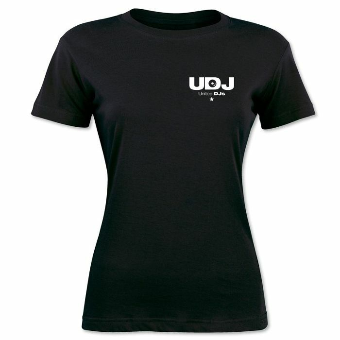 DMC - United DJs Ladies T Shirt (black with white print, small)