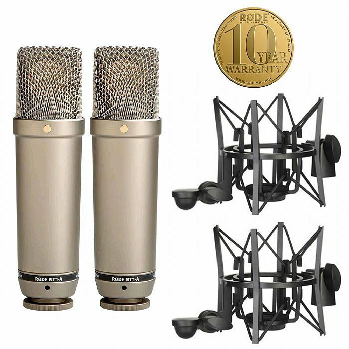 RODE - Rode NT1A Cardioid Condenser Microphones (matched pair) (B-STOCK)
