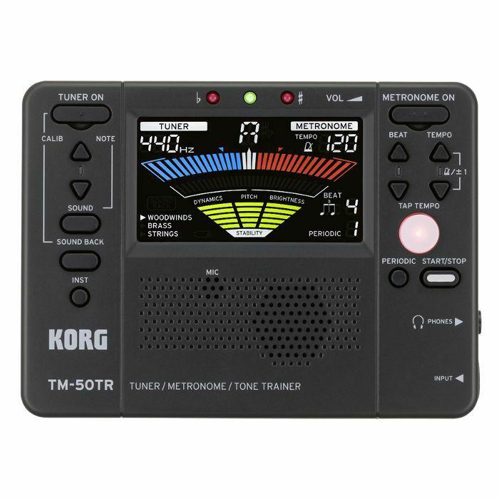 KORG - Korg TM 50TR Tuner Metronome & Tone Trainer (black) (B-STOCK)