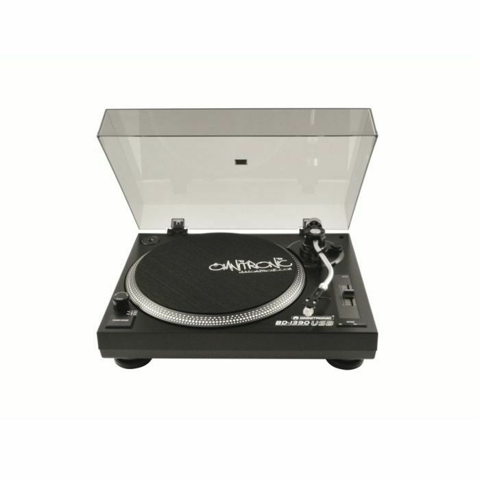 OMNITRONIC - Omnitronic BD1390 Belt Drive USB DJ Turntable (black) (B-STOCK)