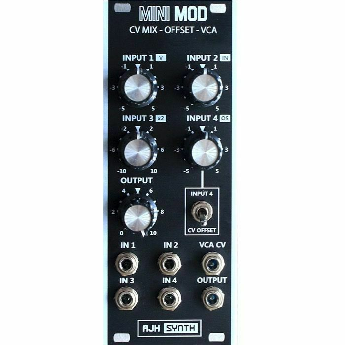 AJH SYNTH - AJH Synth Mini Mod CV Mix Offset VCA Module (black) (B-STOCK)