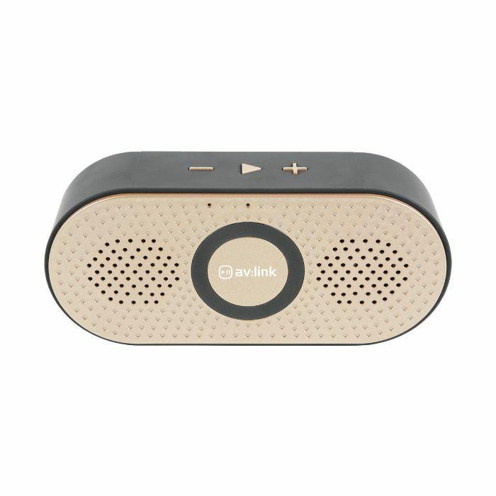 AV LINK - AV Link Portable Bluetooth Speaker (gold)