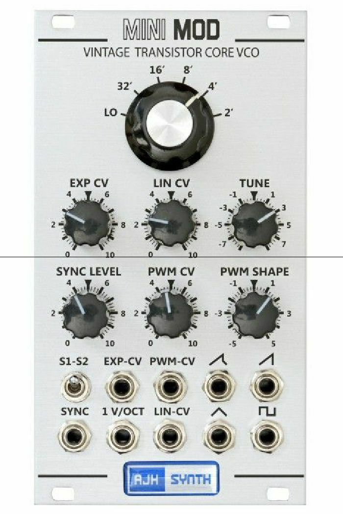 AJH SYNTH - AJH Synth Mini Mod Vintage Transistor Core VCO Module (silver) (B-STOCK)