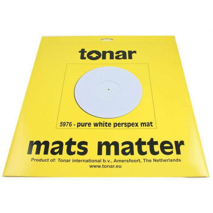 TONAR - Tonar Pure White Perspex Turntable Mat (295mm diameter) (B-STOCK)