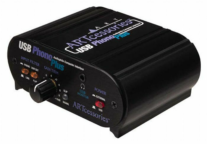 ART - ART USB Phono Plus V2 Audio Interface/Phono Preamplifier (B-STOCK)