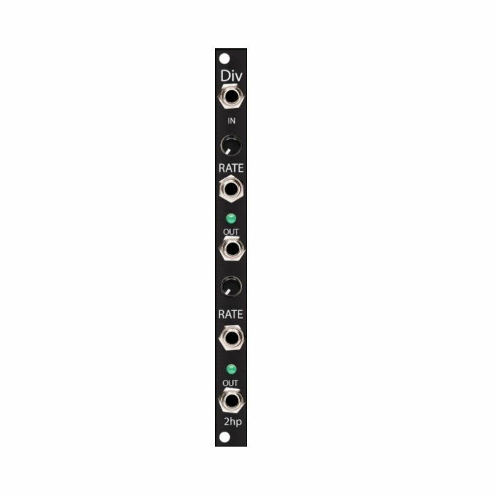 2HP - 2hp Div 2 Channel Voltage Controlled Clock Divider & Multiplier Module (black faceplate)