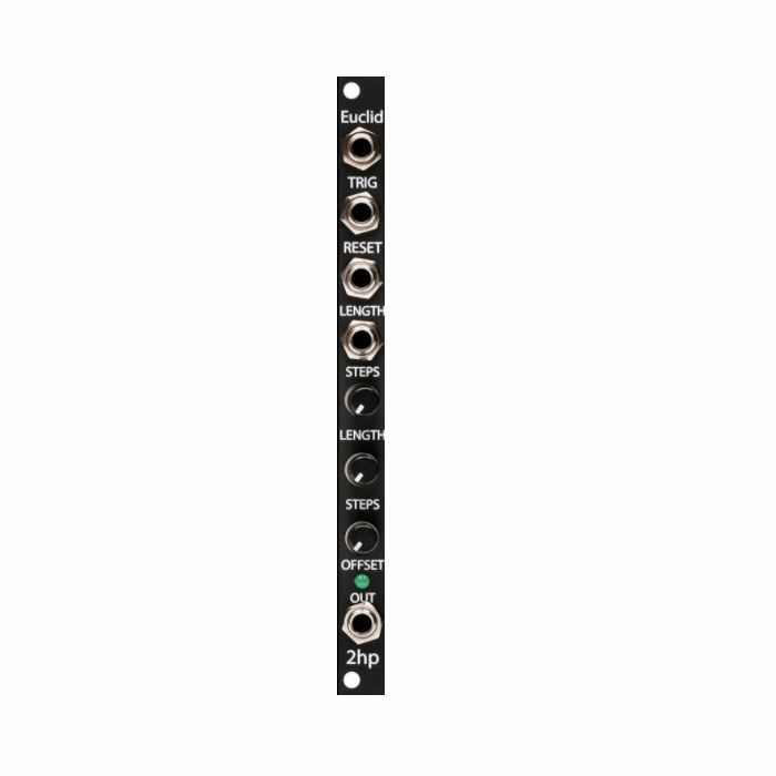 2HP - 2hp Euclid Euclidean Gate Sequencer Module (black faceplate)