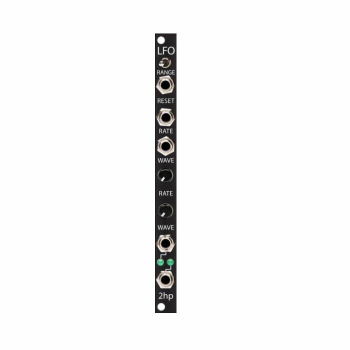 2HP - 2hp LFO v2 Low Frequency Oscillator Module (black faceplate)