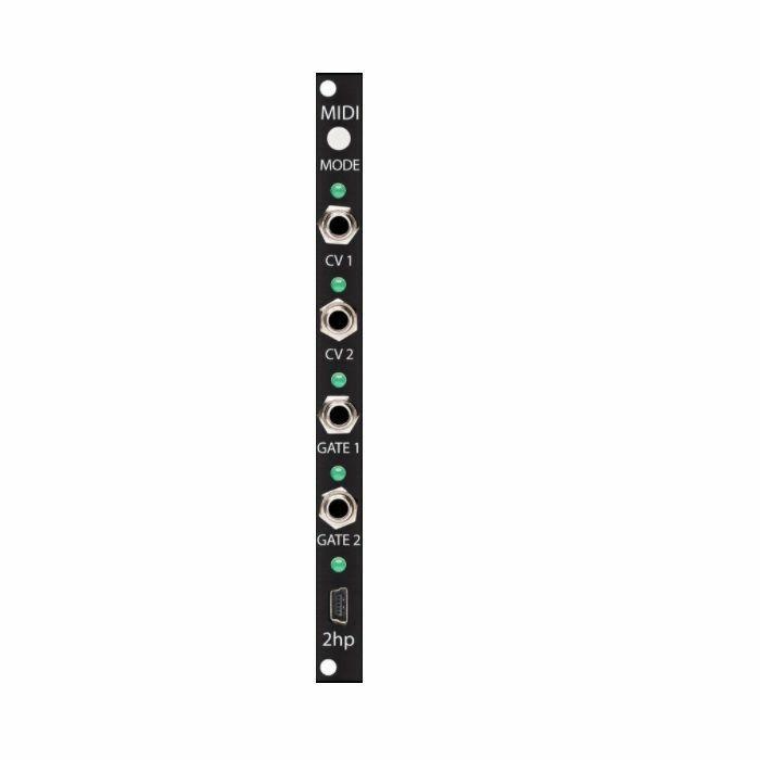 2HP - 2hp MIDI Interface Module (black faceplate)