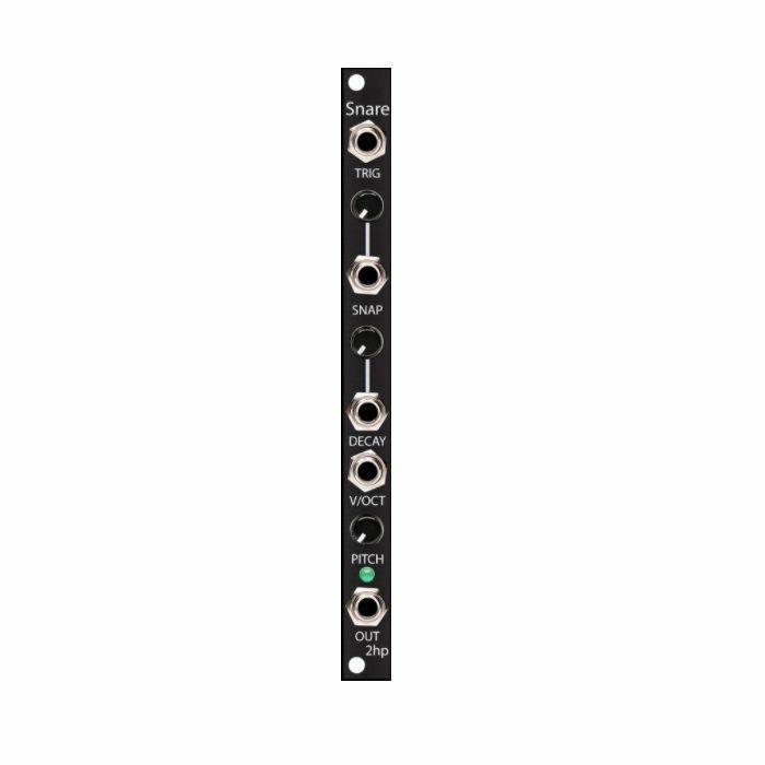 2HP - 2hp Snare Drum Module (black faceplate)