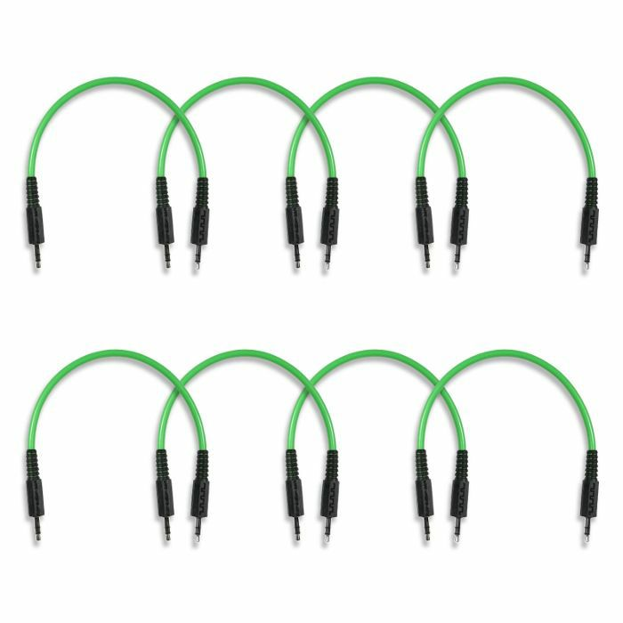 BOREDBRAIN - Boredbrain 3.5mm TRS Male Stereo 6 Inch Patchulator Cables (slime green, pack of 8)