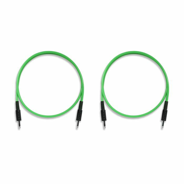 BOREDBRAIN - Boredbrain 3.5mm TRS Male Stereo 24 Inch Patchulator Cables (slime green, pack of 2)