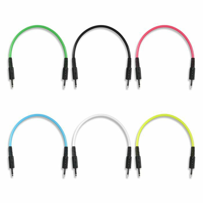 BOREDBRAIN - Boredbrain 3.5mm TS Male Mono 6 Inch Patch Cables (mixed colours, pack of 6)