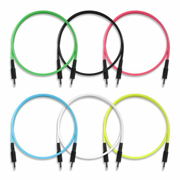 BOREDBRAIN - Boredbrain 3.5mm TS Male Mono 24 Inch Patch Cables (mixed colours, pack of 6)