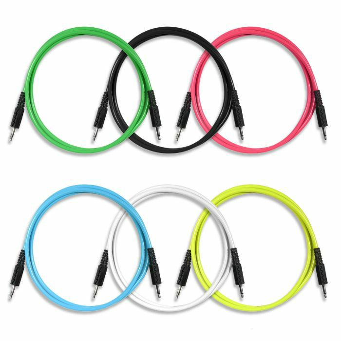 BOREDBRAIN - Boredbrain 3.5mm TS Male Mono 36 Inch Patch Cables (mixed colours, pack of 6)