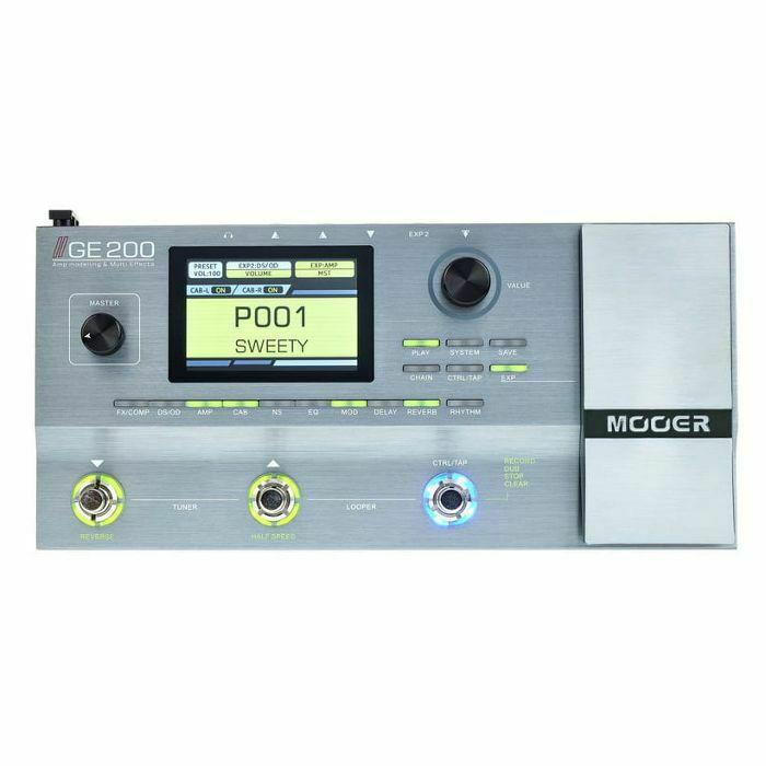 MOOER - Mooer GE200 Amp Modelling & Multi Effects Pedal (B-STOCK)