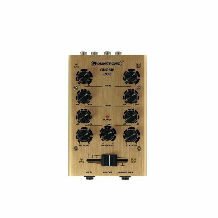 OMNITRONIC - Omnitronic Gnome 202 Mini DJ Mixer (gold) (B-STOCK)