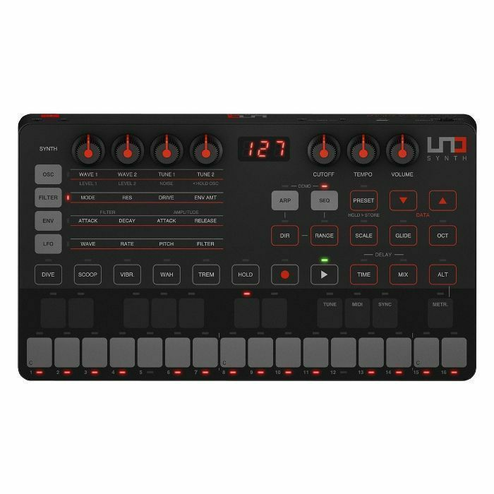 IK MULTIMEDIA - IK Multimedia Uno Synth Analogue Synthesiser ***INCLUDES FREE SYNTRONIK SOFTWARE UPON REGISTRATION WITH IK MULTIMEDIA - OFFER ENDS 30th SEPT 2019***
