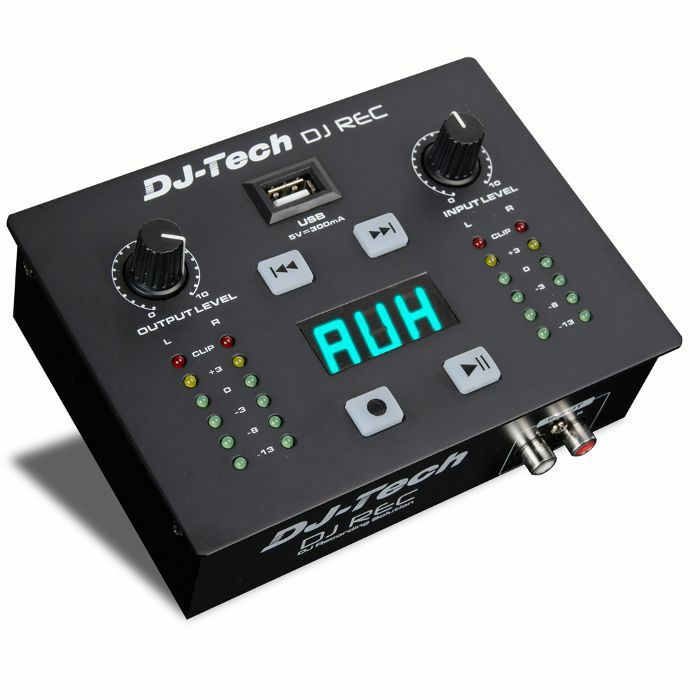 DJ TECH - DJ Tech DJ Rec MKII Portable DJ Recording Solution Audio & MIDI Interface