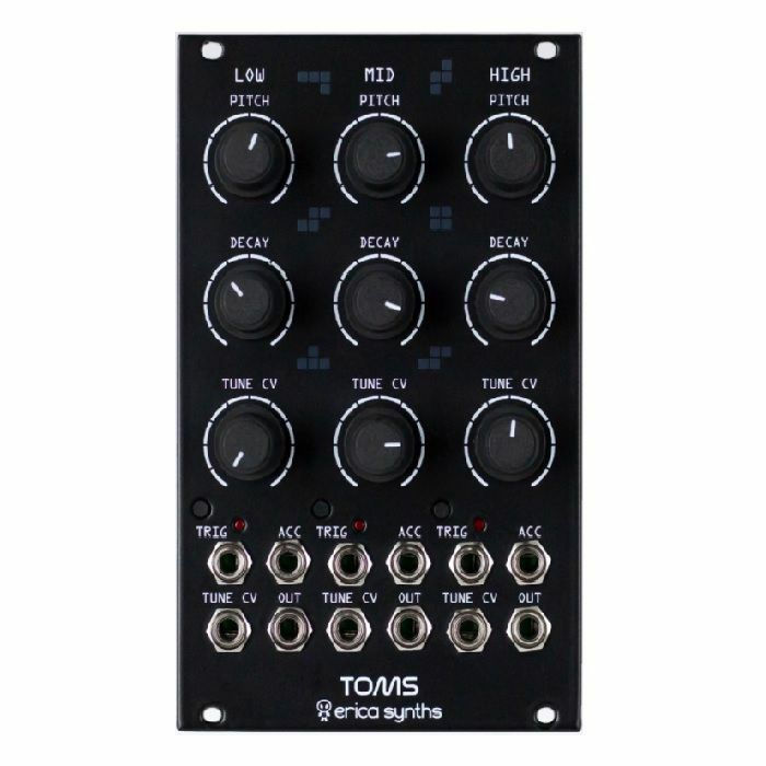 ERICA SYNTHS - Erica Synths Drum Series Toms Module (black)
