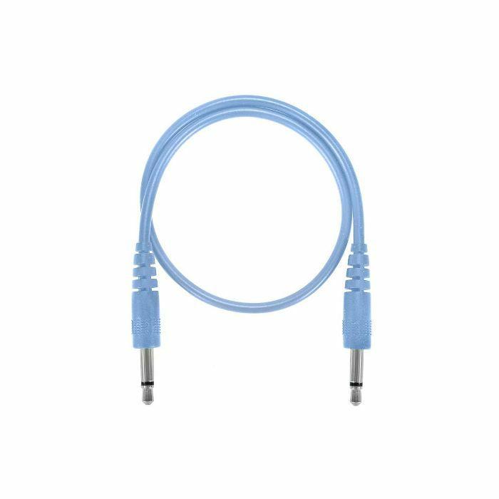 GLOW WORM CABLES - Glow Worm Cables Glow In The Dark 3.5mm Male Mono Eurorack Modular Patch Cable 2.0 (blue, 25cm long)