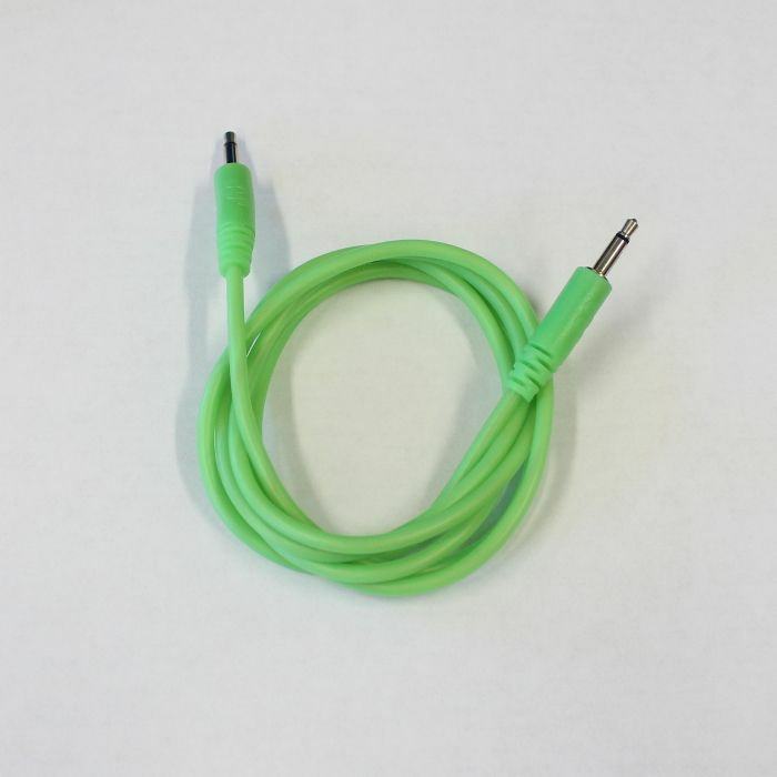 GLOW WORM CABLES - Glow Worm Cables Glow In The Dark 3.5mm Male Mono Eurorack Modular Patch Cable 2.0 (green, 125cm long)