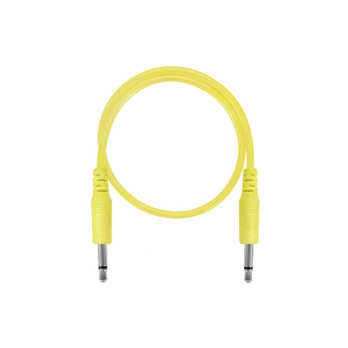 GLOW WORM CABLES - Glow Worm Cables Glow In The Dark 3.5mm Male Mono Eurorack Modular Patch Cable (yellow, 50cm long)