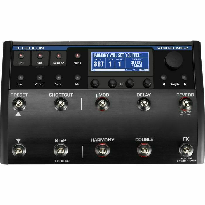 TC HELICON - TC Helicon VoiceLive 2 Vocal Harmony & Effects Pedal (B-STOCK)