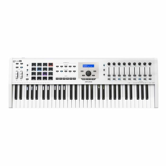 ARTURIA - Arturia Keylab MkII 61 Key USB MIDI Controller Keyboard (white) ***ART OF KEYS PROMO - INCLUDES FREE SOFTWARE INSTRUMENTS***