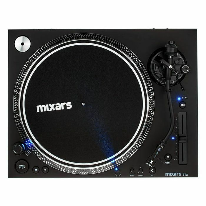MIXARS - Mixars STA High Torque Direct Drive DJ Turntable With S-Shaped Tonearm