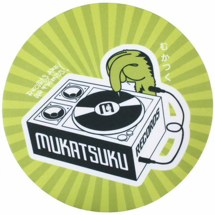 MUKATSUKU - Mukatsuku Records Are Our Friends Olive & Lime Rays 12'' Slipmats (pair) *Juno Exclusive*