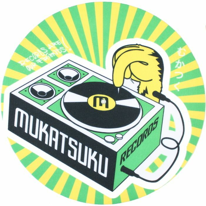 MUKATSUKU - Mukatsuku Records Are Our Friends Green & Yellow Rays 12'' Slipmats (pair) *Juno Exclusive*