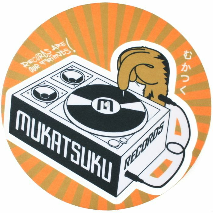 MUKATSUKU - Mukatsuku Records Are Our Friends Orange & Brown Rays 12'' Slipmats (pair) *Juno Exclusive*