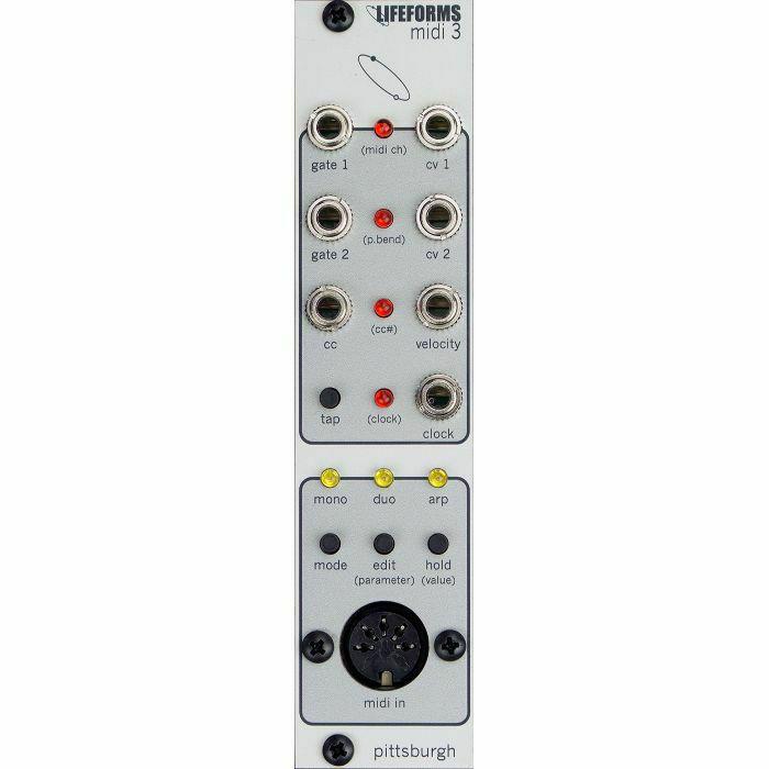PITTSBURGH MODULAR - Pittsburgh Modular Lifeforms MIDI 3 MIDI To CV Converter Module (B-STOCK)