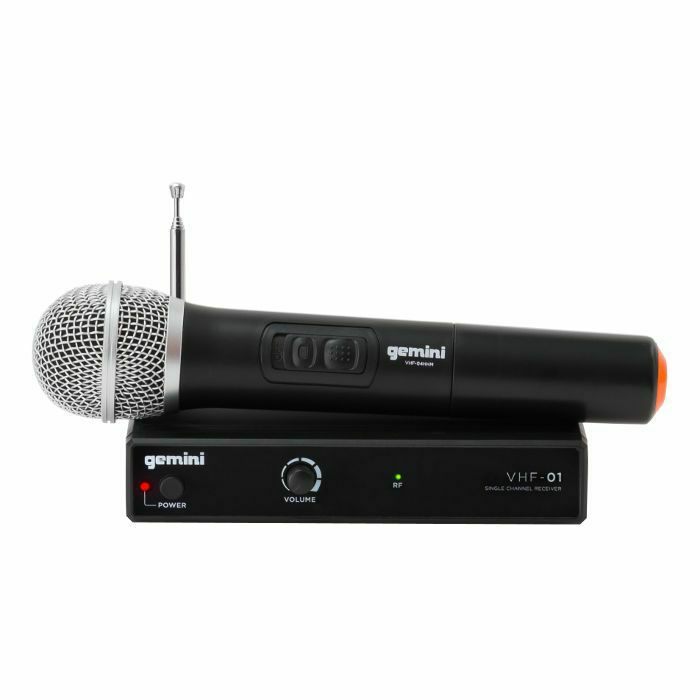 GEMINI - Gemini VHF01M Wireless Mic System With Hand Held Microphone (B-STOCK)