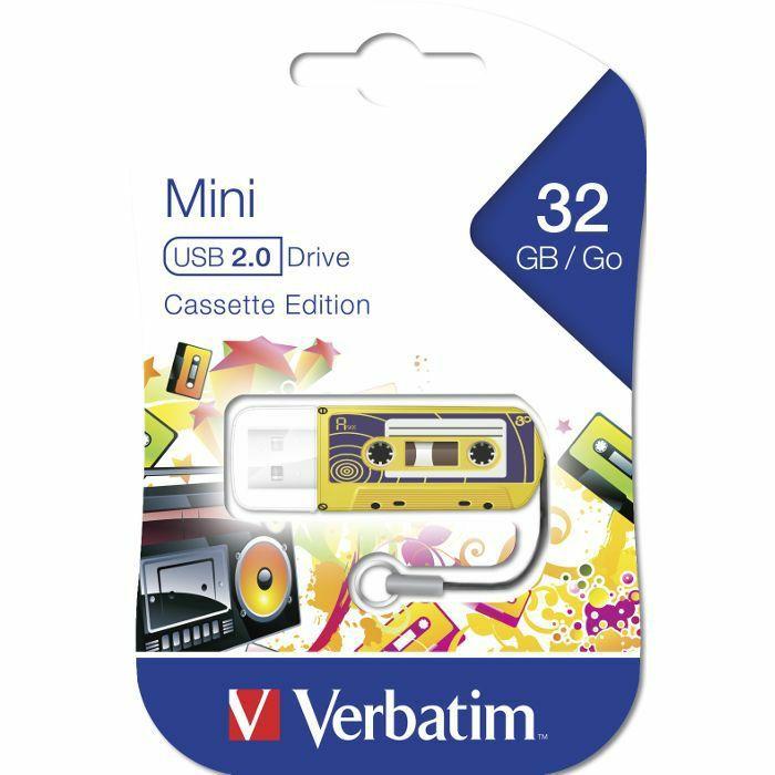 VERBATIM - Verbatim Store'n'Go 32GB USB Flash Drive (yellow cassette edition)