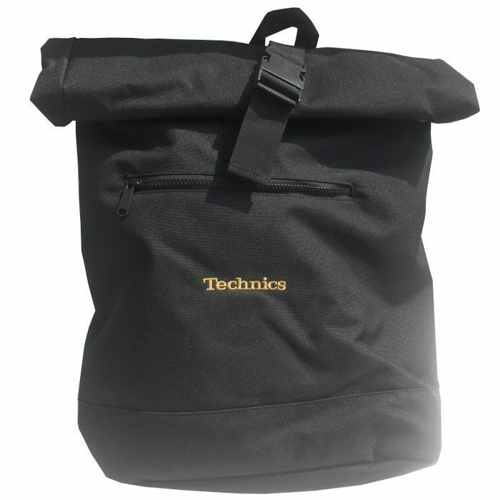 TECHNICS - Technics Roll Top Vinyl Record Backpack (black with gold embroidery)