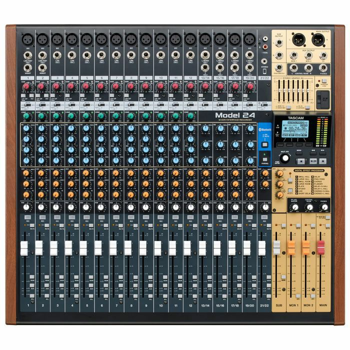 TASCAM - Tascam Model 24 Digital Multitrack Recorder With 22 Channel Analogue Mixer & USB Audio Interface