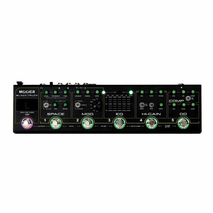 MOOER - Mooer Black Truck Multi Effects Pedal (includes Compressor, Overdrive, Distortion, EQ, Modulation & Delay/Reverb effects) (B-STOCK)