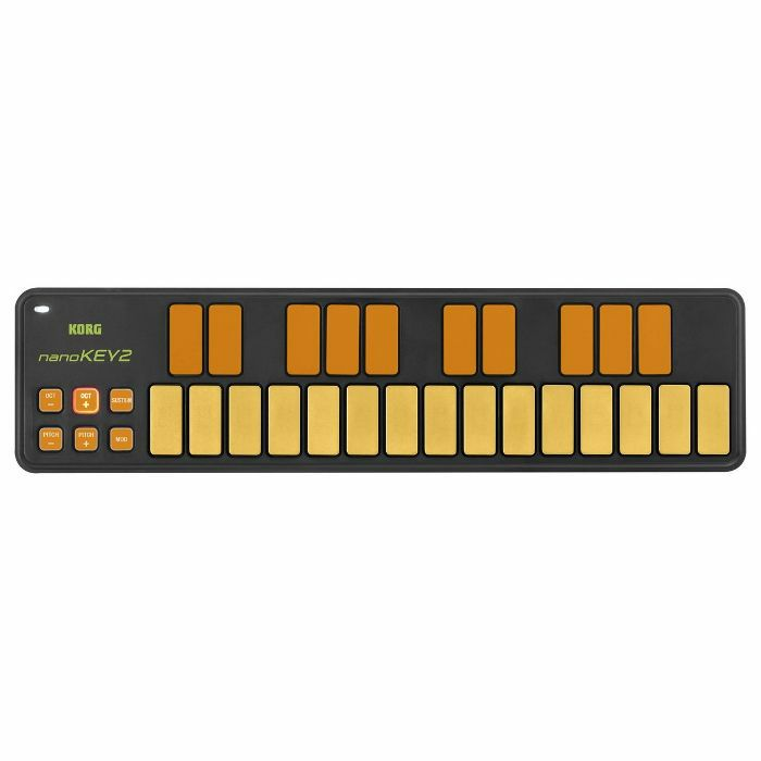 KORG - Korg NanoKey 2 25 Key Mini USB MIDI Keyboard Controller (orange & green)